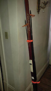 Cross Country Skis, poles, boots size 9