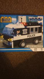 Building blocks police car