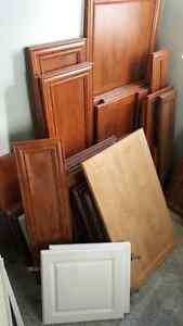 Tons of cabinet doors, cabinets, and accessories