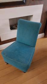 Mid Century 1950s Bedroom / Cocktail Chair original fabric