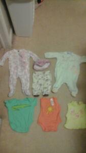 Baby Clothes Lot of 6 pieces (newborn to 3-6 months)