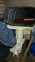► Vintage 1966 Chrysler 35HP Outboard Engine +Steering / Throtte