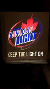 Molson Canadian Light beer sign  (new)