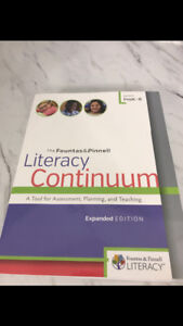 Guided reading and literacy continuum