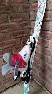 Girls skis, boots, bindings