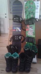 Kids snow boarding gear great condition & price