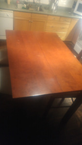 Pub height table and 8 chairs