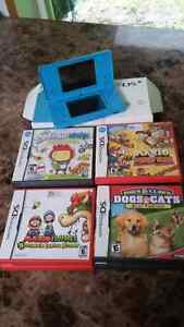Nintendo DS (blue) comes with 10 games and charger