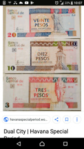Do you have leftover Cuban currency from your vacation??