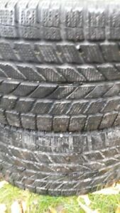 PAIR OF R17 215-45 WINTER TIRES