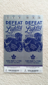 LEAF vs DETROIT RED WINGS - TUES MARCH 7 - UNDER FACE VALUE