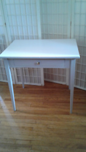 Small Solid Wood Table with drawer