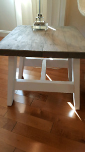 Grey Farmhouse A Frame End Tables