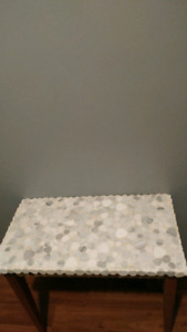 Stone accent table