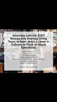 JOEY SHERWAY - HIRING FAIR