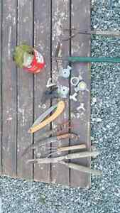 Misc garden tools and sprinkler nozzles