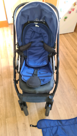 Pram Oyster 2 (blue) with oyster ride included bought separately
