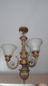 3 light chandelier - brass