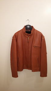 Beautiful brown Schott leather jacket available for trade /sale