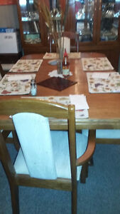 Dining Table , Chairs & China Cabinet