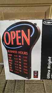 Open sign with hours of operation- programmable Kitchener / Waterloo Kitchener Area image 1