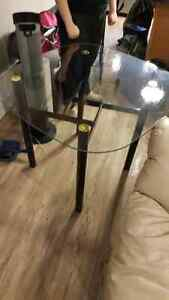 Glass table and 2 chairs $80 OR Best Offer Edmonton Edmonton Area image 3
