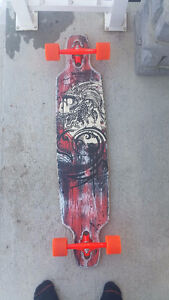 One of a Kind, Hand Painted Longboard - Bustin Boards Brooklyn