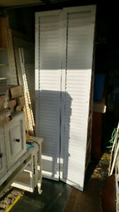 2 Tall House shutters (in Burlington) metal/ painted