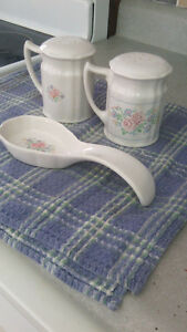 Salt and Pepper with Spoon Holder