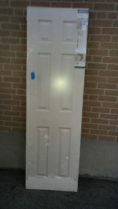 two white solid closet doors for sale!