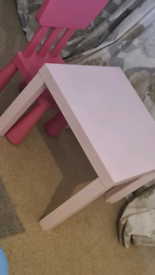 Pink ikea table
