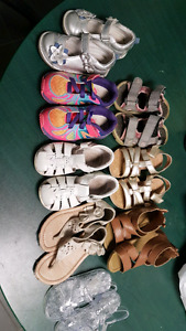 Little girls shoes toddler size 6m and 7m
