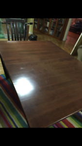 Dining room/kitchen wood set:table+6 chairs
