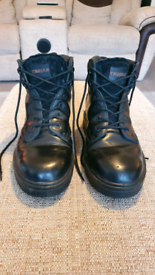 Steel toe cap boots, size 9