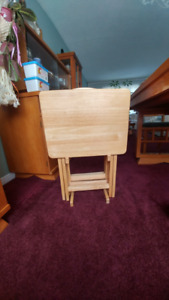tv trays wooden