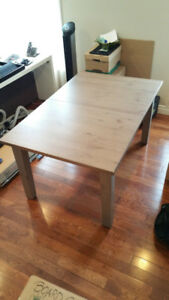 Ikea Stornas solid wood extendable dining table  Seats 4-6