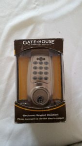 New and Unused Gatehouse Electronic Keypad Deadbolt