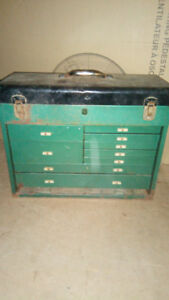 Old machinists tool box and Stanley tool box