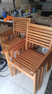 6 brand new wooden chairs
