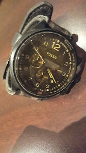 Men's Vintage Brown Fossil Watch