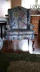Beautiful wing backed accent chair...new price!
