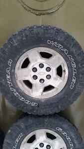 Set of 4 Goodyear Duratrac Wrangler  Tires and Rims Peterborough Peterborough Area image 1