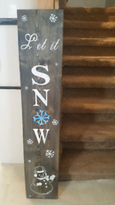 Homemade Let it snow sign