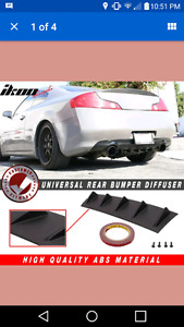 Universal rear diffuser lip for rear bumper