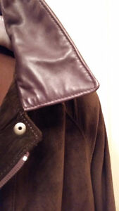 BEAUTIFUL CHOCOLATE BROWN SUEDE CAR COAT Cambridge Kitchener Area image 6