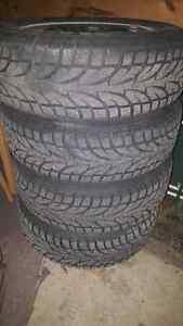 "Snow tires on 16"" x 5 x 110 Rims"