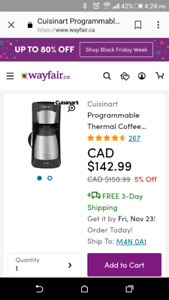 Cuisinart coffee maker with thermal carafe