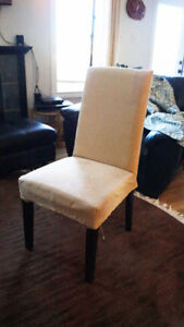 brand new, six slip covers for parsons dining room chairs