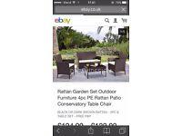Brand New Brown Garden Furniture Set