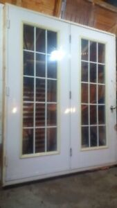 SOLD French doors (exterior) 6 ft wide X 7ft high  in good shape